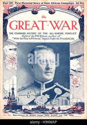 1916 The Great War front page Major General Sir Michael Joseph Tighe - Stock Photo