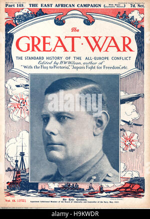 1917 The Great War front page Sir Eric Geddes - Stock Photo