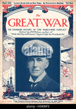 1917 The Great War front page Surgeon General Humphry Davy Rolleston - Stock Photo