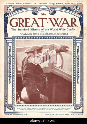 1919 The Great War front page  Admiral Sir David Beatty - Stock Photo