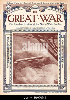 1919 The Great War front page British airships on patrol - Stock Photo
