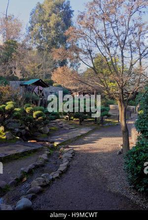 Jardin japones or japanese garden at parque 3 de febrero for Jardin japones de santiago