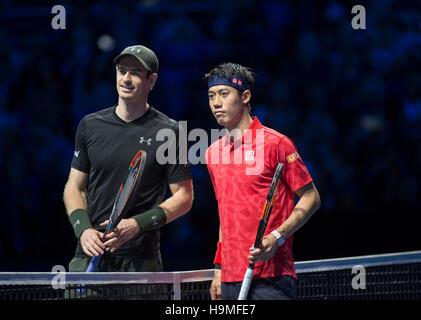 Barclays ATP World Tour Finals, Day 4. Andy Murray (GBR) vs Kei Nishikori (JPN). © sportsimages/Alamy Live News - Stockfoto