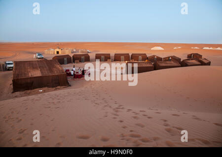 A campsite in the Sahara Desert - Stockfoto