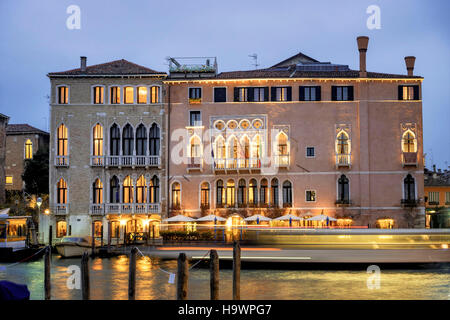 italy venice grande canale ca d 39 oro vaporetto water bus stop stock photo royalty free image. Black Bedroom Furniture Sets. Home Design Ideas