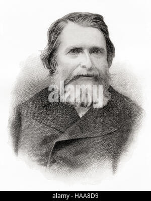 John Ruskin, 1819 –  1900.  English art critic of the Victorian era,  art patron, draughtsman, watercolourist,  - Stock Photo