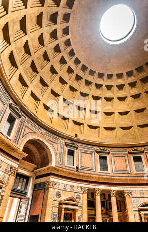 Rome, Italy. Pantheon, ancient Roman Empire building built by Marcus Agrippa in Augustus times. - Stock Photo