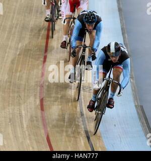 London, UK. 03rd Dec, 2016. Lee Valley VeloPark, London, UK. 3rd December 2016.Revolution Track Series, Champions - Stock Photo