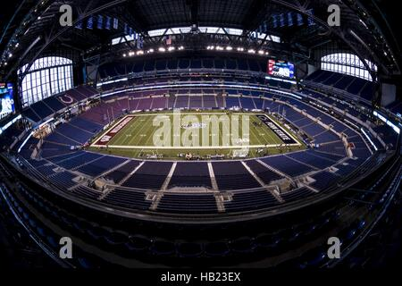 December 3, 2016 - Indianapolis, Indiana, U.S - December 3, 2016 - Indianapolis, Indiana - View of the field from - Stock Photo