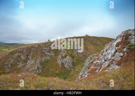 mountains in autumn day - Stock Photo