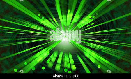 Green rays - Stock Photo