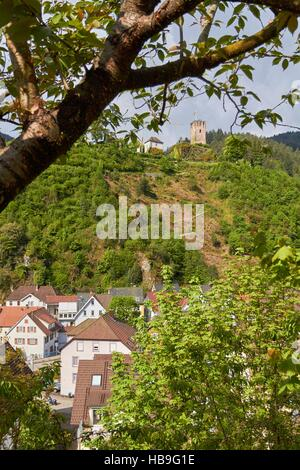Black Forest: Hornberg in Black Forest - Stock Photo
