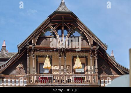 Black Forest: Old Hotel in Triberg - Stock Photo