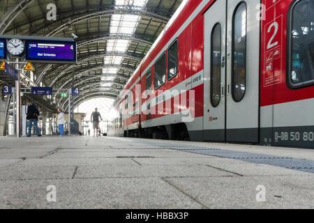 Cityshuttle in Dresden-Neustadt Station - Stock Photo