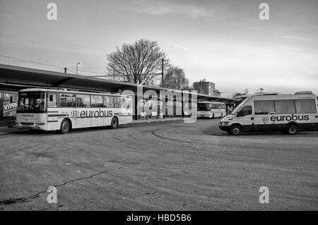 Bus station in Kosice (Slovakia) - Stock Photo