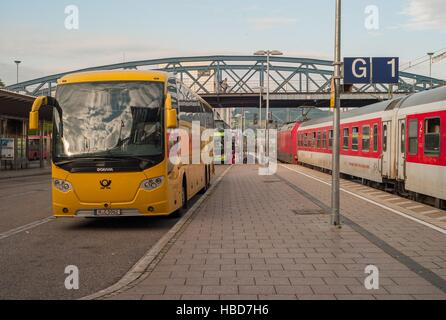 Express-Busses in Freiburg (Germany) - Stock Photo