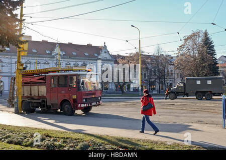 Oldtimer dominate the skyline in Kosice - Stock Photo