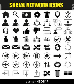 Social Network Icons - Stock Photo
