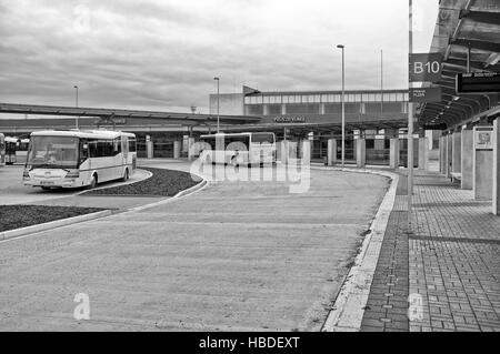 Bus station in Cheb (Czech Republic) - Stock Photo