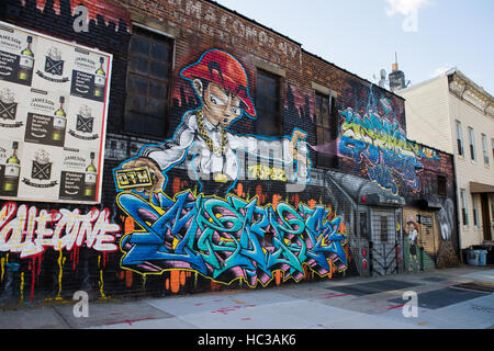Street art in bushwick brooklyn new york usa all art for Art and craft store in brooklyn ny