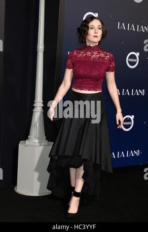 Los Angeles, CA, USA. 6th Dec, 2016. Anna Chazelle at the 'La LA Land' World Premiere at Village Theater on December - Stock Photo