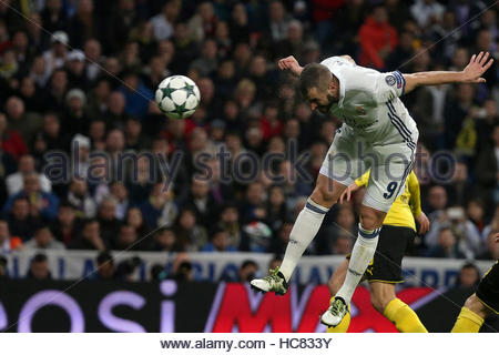Football Soccer - Real Madrid v Borussia Dortmund - UEFA Champions League - Santiago Bernabeu stadium, Madrid, Spain - Stockfoto
