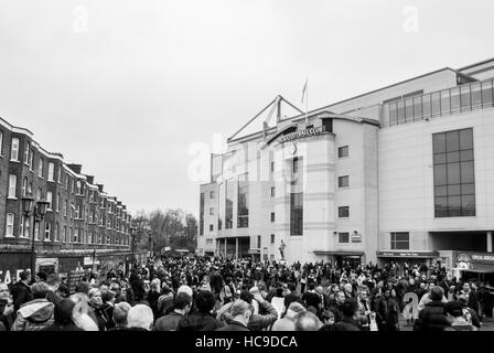 LONDON, UNITED KINGDOM - 22 NOVEMBER 2014: The outside view of Stamford Bridge, the home ground of Chelsea Football - Stock Photo