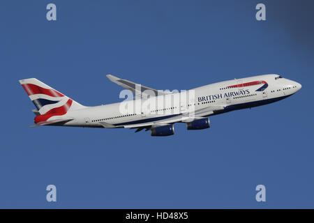 BRITISH AIRWAYS 747 - Stock Photo