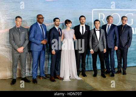 Cast attends the Launch Event of ROGUE ONE: A STAR WARS STORY  on 13/12/2016 at  Tate Modern, Bankside, . Persons - Stock Photo