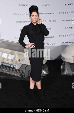 Westwood, California, USA. 14th Dec, 2016. Sarah Silverman arrives for the premiere of the film 'Passengers' at - Stock Photo