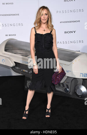 Westwood, California, USA. 14th Dec, 2016. Kim Raver arrives for the premiere of the film 'Passengers' at the Village - Stock Photo