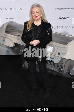 Westwood, California, USA. 14th Dec, 2016. Jacki Weaver arrives for the premiere of the film 'Passengers' at the - Stock Photo