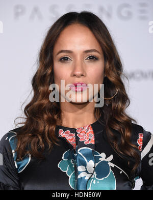 Westwood, California, USA. 14th Dec, 2016. Dania Ramirez arrives for the premiere of the film 'Passengers' at the - Stock Photo