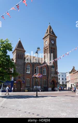 Town Hall, Market Place, Newbury, Berkshire, England, United Kingdom - Stock Photo