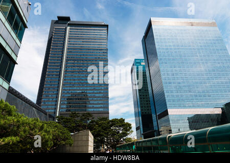 Skyscrapers; Seoul, South Korea - Stock Photo