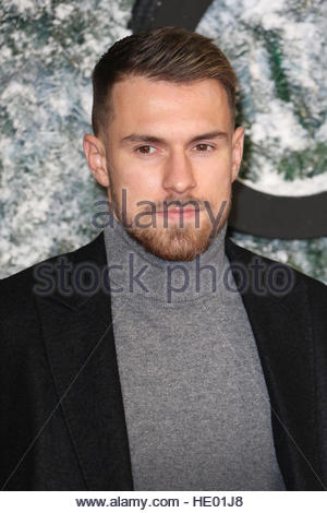 London, UK. 15th Dec, 2016. Aarom Ramsey is among the celebrities attending the European premiere of new film Collateral - Stock Photo