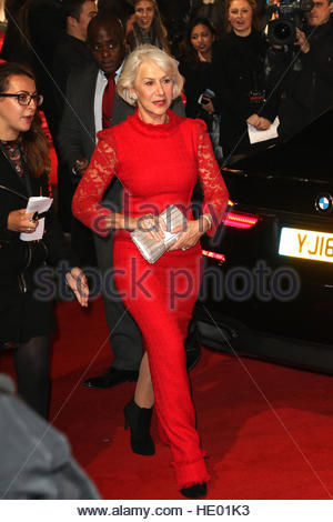 London, UK. 15th Dec, 2016. Helen Mirren is among the celebrities attending the European premiere of new film Collateral - Stock Photo