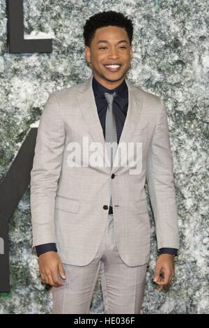 London, UK. 15th Dec, 2016. Jacob Latimore attends the European Premiere of COLLATERAL BEAUTY at Leicester Square, - Stock Photo