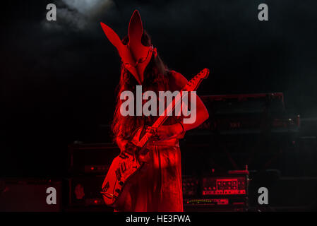 London, UK. 15th Dec, 2016. Bo Ningen perform on stage at O2 Academy Brixton. Bo Ningen are a Japanese four-piece - Stock Photo