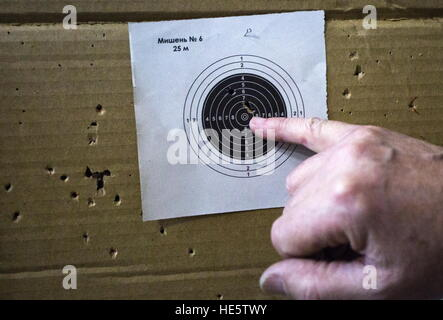 Omsk, Russia. 16th Dec, 2016. A target at a shooting lesson at the Omsk Cadet Corps. © Dmitry Feoktistov/TASS/Alamy - Stock Photo