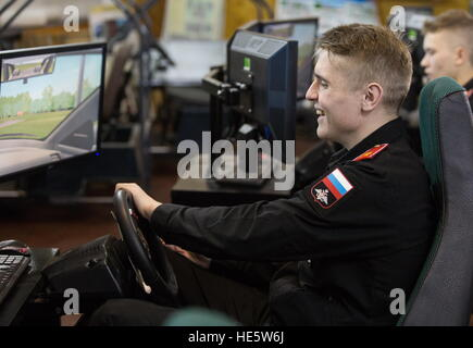 Omsk, Russia. 16th Dec, 2016. A cadet of the Omsk Cadet Corps attends a driving lesson. © Dmitry Feoktistov/TASS/Alamy - Stock Photo
