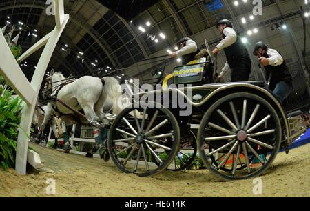 London, UK. 17th Dec, 2016. Olympia The London International Horse Show at Grand Hall Olympia London UK. The FEI - Stock Photo