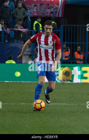 Madrid, Spain. 17th Dec, 2016. Vrsaljko. Atletico de Madrid won by 1 to 0 over Las Palmas whit a great goal of Saúl - Stock Photo