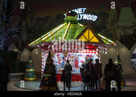 Disney Village at Christmas season - Stock Photo