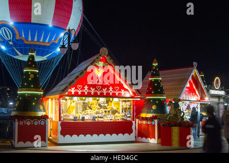 Disney Village at Christmas - Stock Photo