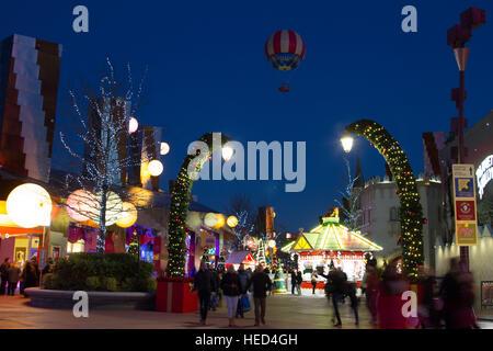 Disney Village at Christmas Marne La Vallee France - Stock Photo