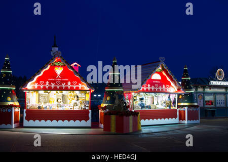 Disney village at Christmas Marne La Vallee France - Stock Photo
