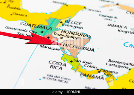 Nicaragua Political Map Stock Photo 72633362 Alamy