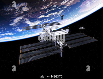 International Space Station and earth Stock Photo, Royalty ...