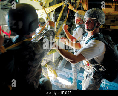 FORT BENNING, Ga., - U.S. Army Sgt. Aaron Eller and U.S. Army Staff Sgt. Alex Iungerich, instructors with the U.S. - Stock Photo